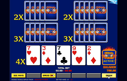 Ultimate X Five Play Draw Poker